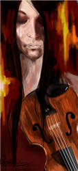 The violinist. by Traenacra