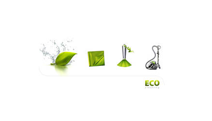 Eco cleaning Icon Set by carl913
