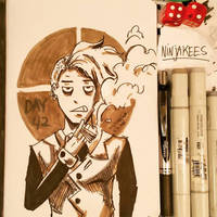 Sketchbook Day.42 - No Words by N1NJAKEES