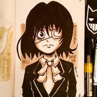 Sketchbook Day 40 - Mei Misaki by N1NJAKEES