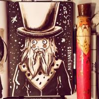 Sketchbook Day 41 - BeardManDude by N1NJAKEES
