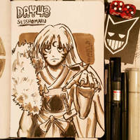 Sketchbook Day.43 - Sesshomaru by N1NJAKEES