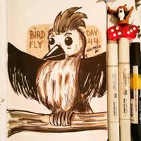 Sketchbook Day.44 - Bird Fly by N1NJAKEES