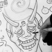 WIP! INKTOBER 27 - Creepy an Demon by N1NJAKEES