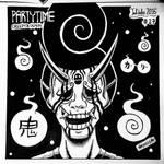 INKTOBER 27 - Creepy and Demon by N1NJAKEES