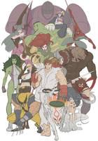 Marvel VS Capcom Pinup by E-V-IL