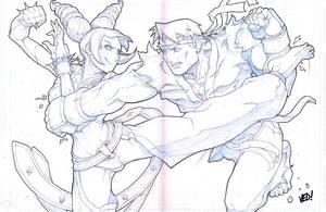 Ryu vs Juri by E-V-IL