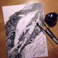 InkTober Day 0 by MayVig