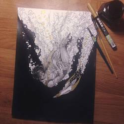 InkTober Day 4 -Underwater- by MayVig