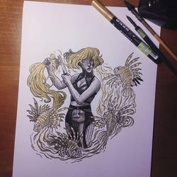 InkTober Day 5 -Long- by MayVig