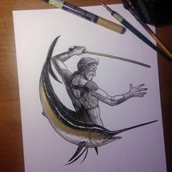 InkTober Day 6 -Sword- by MayVig