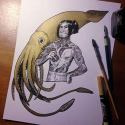 InkTober Day 10 -Gigantic- by MayVig