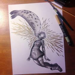 InkTober Day 12 -Shattered- by MayVig