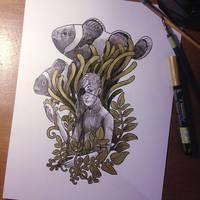 InkTober Day 13 -Teeming- by MayVig