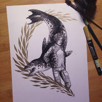 InkTober Day 14 -Fierce- by MayVig