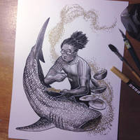 InkTober Day 16 -Fat- by MayVig