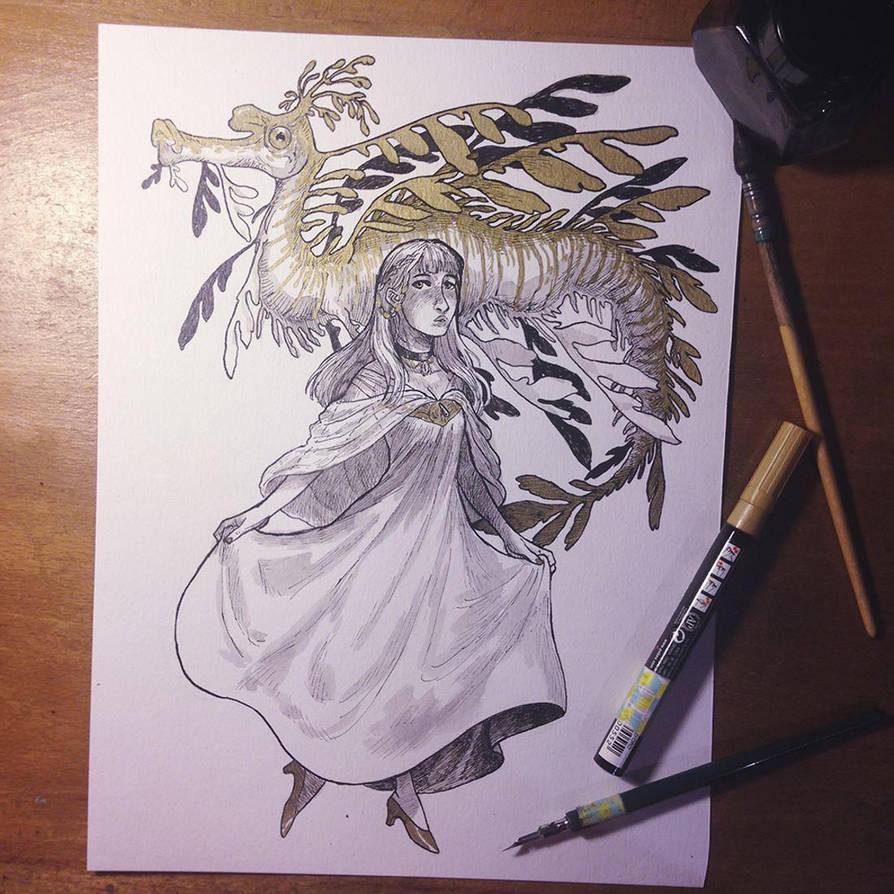 InkTober Day 17 -Graceful- by MayVig