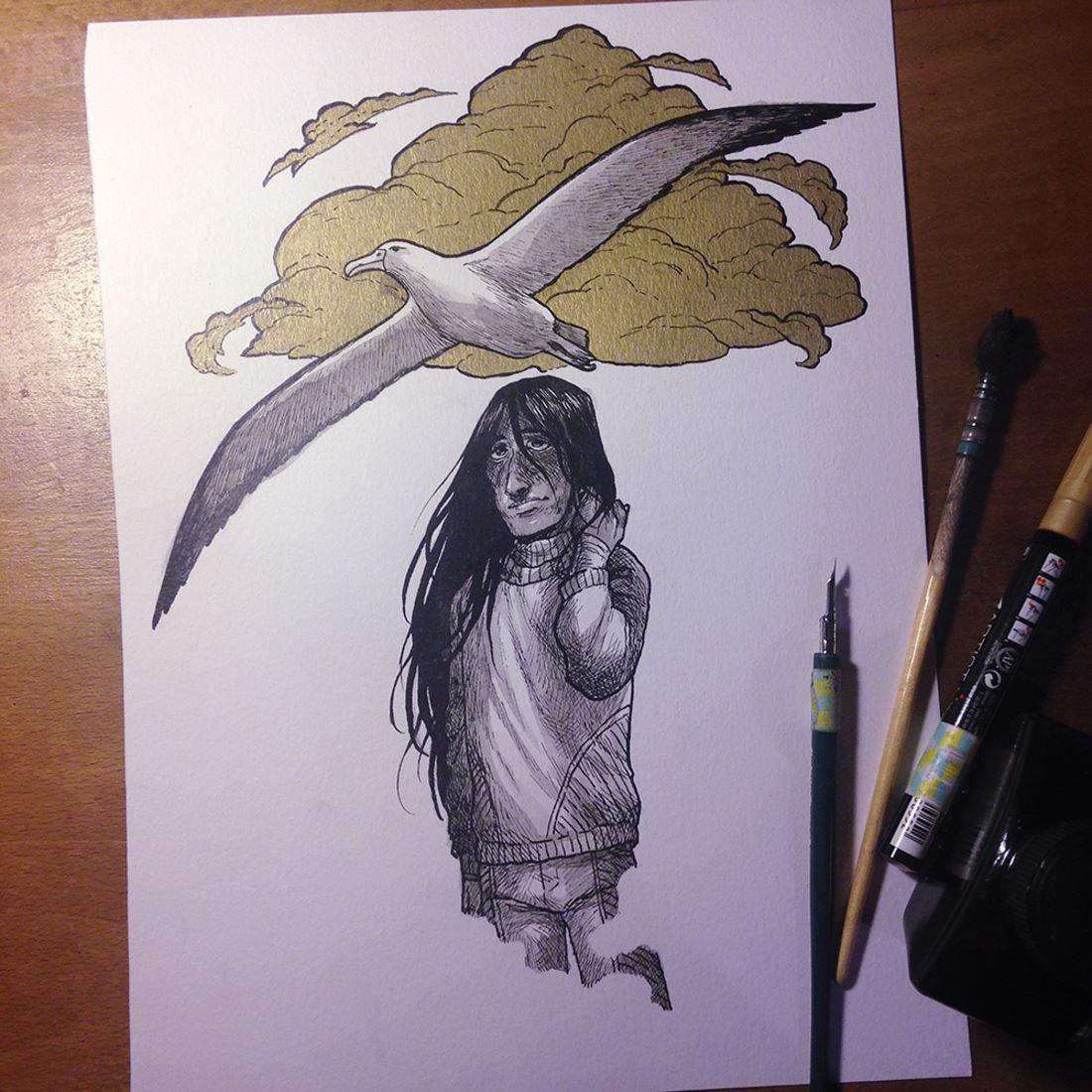 InkTober Day 19 -Cloud- by MayVig