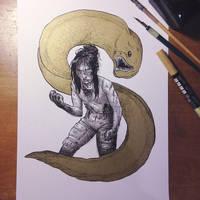 InkTober Day 21 -Furious- by MayVig