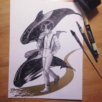 InkTober Day 22 -Trail- by MayVig