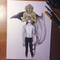 InkTober Day 24 -Blind- by MayVig