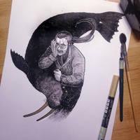 InkTober Day 28 -Fall- by MayVig