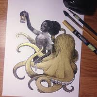 InkTober Day 30 -Found- by MayVig