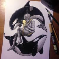 InkTober Day 31 -Mask- by MayVig
