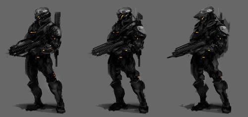 Soldier Concepts by VincentiusMatthew