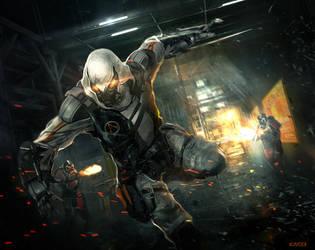 Cyberpunk Assassin by VincentiusMatthew