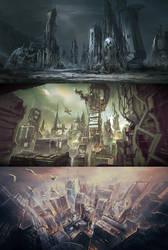 SciFi Cities by VincentiusMatthew
