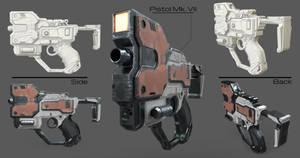 Machine Pistol Low Poly by VincentiusMatthew