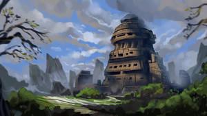 Majapahit Temple by VincentiusMatthew