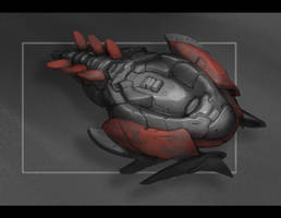 Commission: Trilobite-like Enemy Ship by VincentiusMatthew