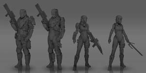 Commission: Army of the Night Concept WIP by VincentiusMatthew