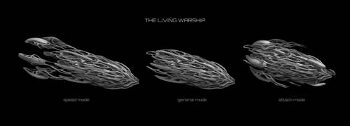 Commission: The Living Warship Concept by VincentiusMatthew