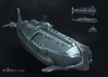 Commission: The Evening Tide Submarine Concept by VincentiusMatthew