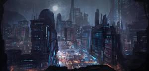 Commission: Metropolis Concept by VincentiusMatthew