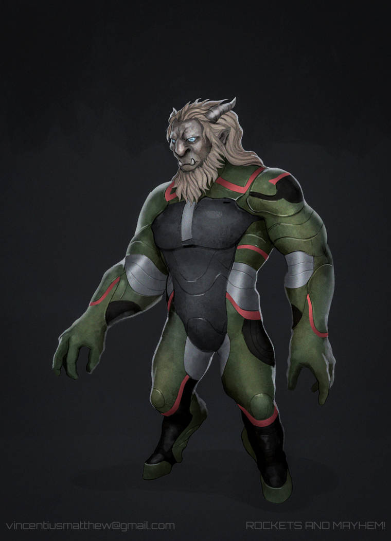 Commission: Kravyad Alien Concept by VincentiusMatthew