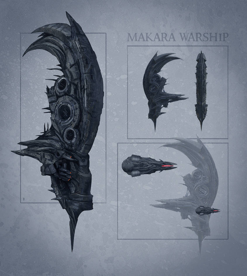 Commission: Makara Warship by VincentiusMatthew