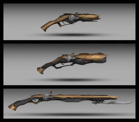 Commission: Blaster Type_Weapon Design by VincentiusMatthew