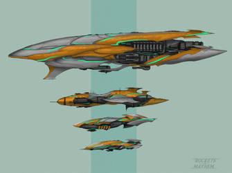 Commission: High-Technik Spaceships by VincentiusMatthew