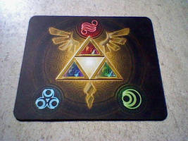 Triforce Mousepad by icycatelf