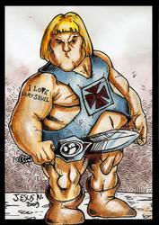 fat he-man by JesusNazarenuz