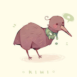 + kiwi birb + by MellowKun