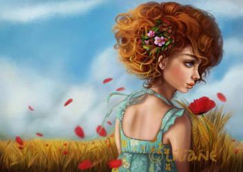 Poppy flowers by d-liliane