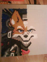 Pixel Art Fox McCloud WIP by RennardFuchs