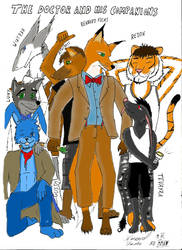 The Doctor and his companions by RennardFuchs