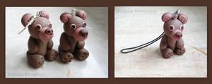 Bears earrings and pendant by MrsEfi
