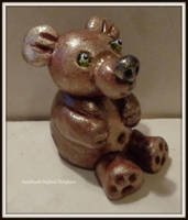 bear made of cold porcelain by MrsEfi